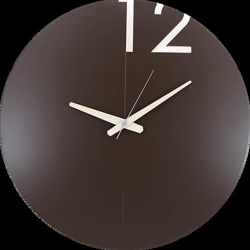 Minimal Design Wall Clock Plain -Brown