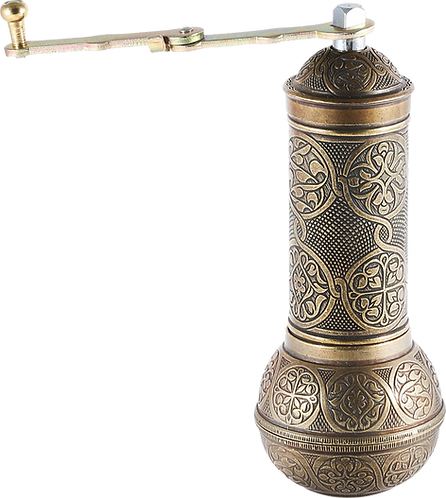 Traditional Brass Coffee/Spice Grinder, Mill -Antique Gold