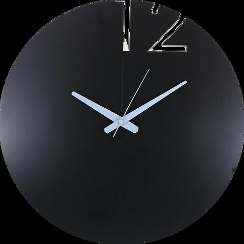 Minimal Design Wall Clock Plain -Black