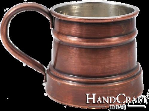 Handmade Antique Copper Mug - 13 fl.Oz (400ml)