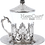 Thumbnail: Traditional Design Cast Zamak Tea Set for Six