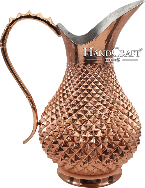 Handmade Engraved Copper Moscow Mule Pitcher 34fl.Oz (1000ml)
