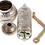 Thumbnail: Traditional Brass Coffee/Spice Grinder, Mill - Silver
