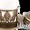 Thumbnail: Traditional Design Cast Zamak Turkish Coffee Set for Six -Antique Gold
