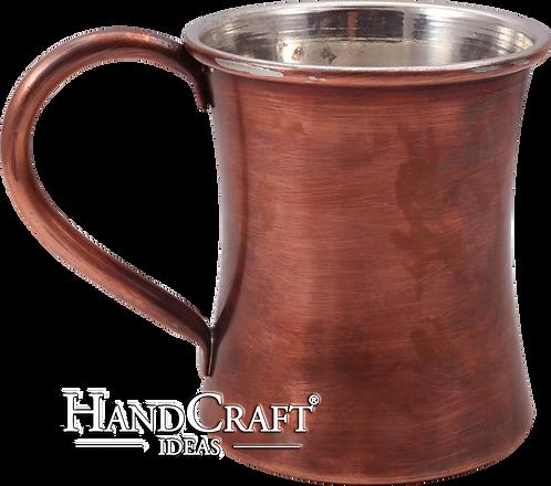 Handmade Antique Copper Mug - 13 fl.Oz (375ml)