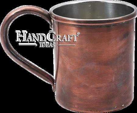 Handmade Antique Copper Mug - 25 fl.Oz (750ml)