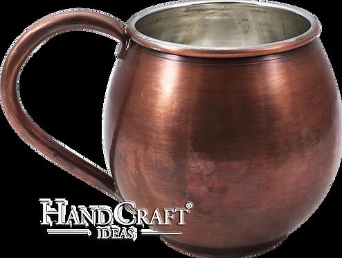 Handmade Antique Copper Barrel Mug - 20 fl.Oz (600ml)