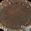 Thumbnail: Cast Zamak Serving Tray - Antique Gold / 35cm