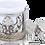 Thumbnail: Traditional Design Cast Zamak Turkish Coffee Set for Six - Silver