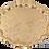 Thumbnail: Cast Zamak Serving Tray - Gold / 35cm