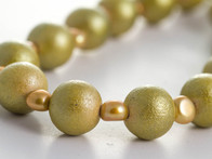 Wood and Pearl Necklace
