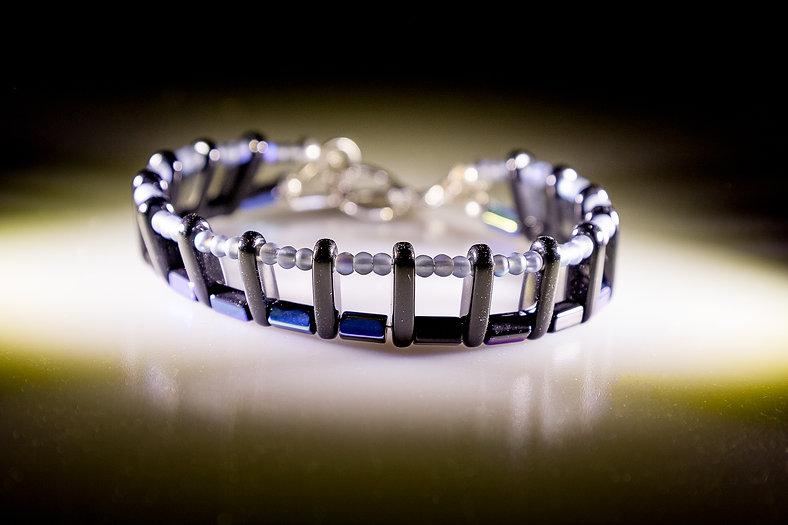 Blue Double Strand Bracelet