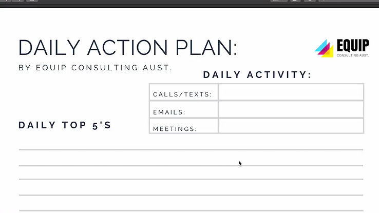 Walkthrough for The Daily Action Plan