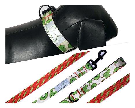 halsband én riem kiwi/lightning