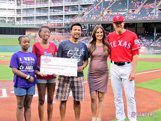 GIOF Donates $10K at Rangers Gut It Out Night
