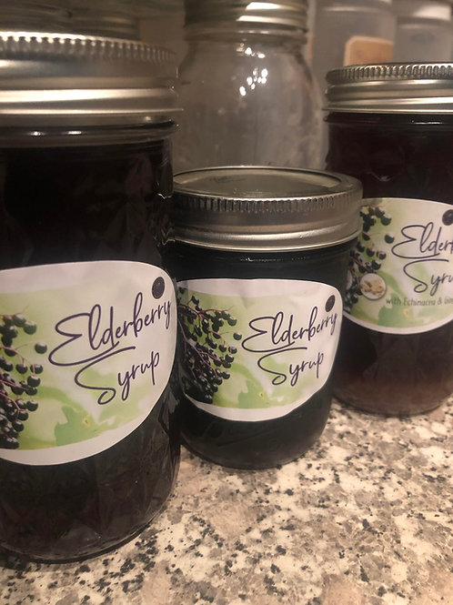 Plain Elderberry Syrup (16 oz)