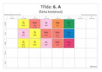 Malé kukátko do rozvrhu žáků 6.–8. tříd od 8. 6. 2020 – 30. 6. 2020