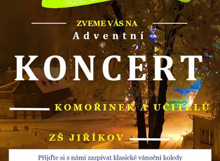 Pozvánka na adventní koncert 29. listopadu od 17:20 hod.