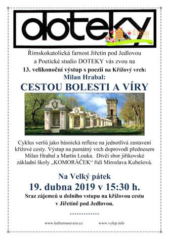 Pozvánka na koncert DPS Komoráček 19. 4. 2019