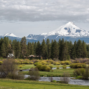 Mt. Jefferson overlooking the Metolius River in central Oregon