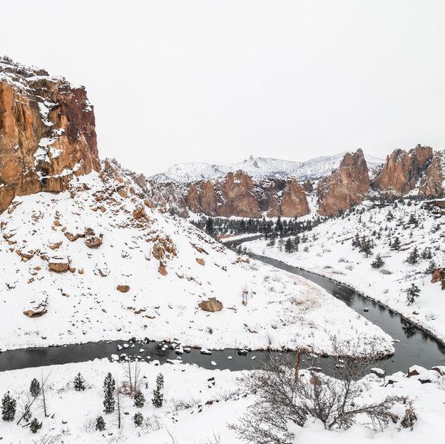 Smith Rocks in Snow