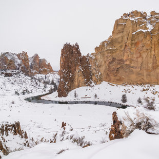 Smith Rocks in Snow