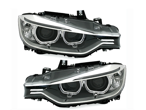 XENON LOOK HEADLIGHTS SET CHROME BMW 3 SERIES F30 F31 2011-2015