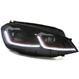 DRL Full LED Headlight For VW Golf7 MK7 2013-2017 Halogen Front Light Headlights
