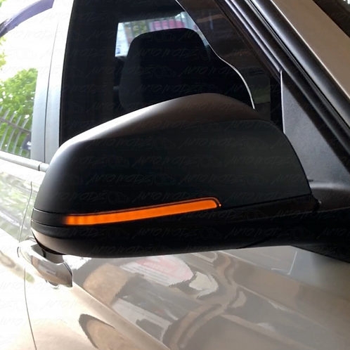 Mirror indicators set black LED dynamic BMW 3 Series F30 F31 2011