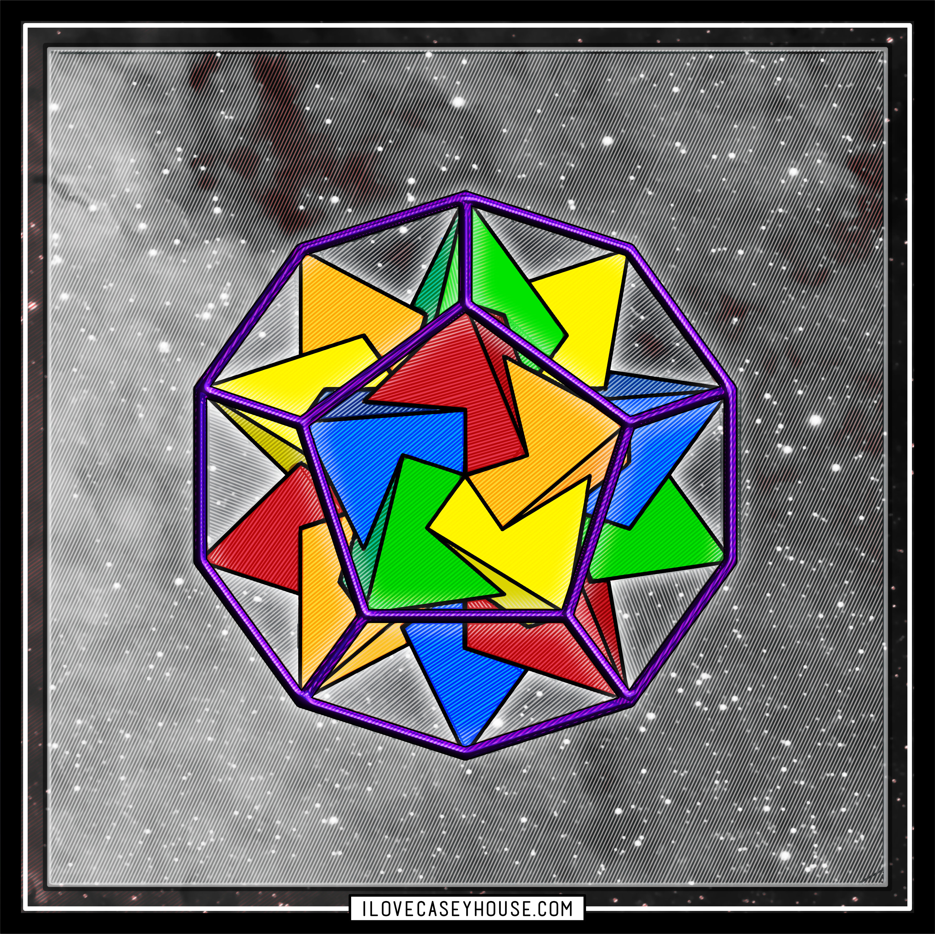 Tetrahedrons Defining Dodecahedron