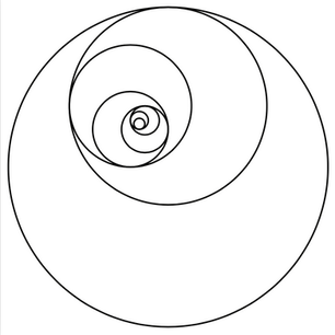 Free Vector Image- Golden Mean Spiral