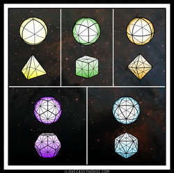 great circles of the platonic solids