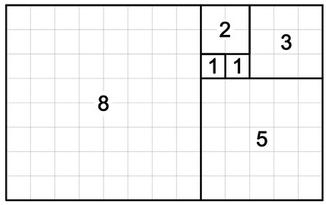 Free Vector Image- Fibonacci Rectangle