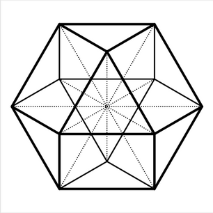 Cuboctahedron (free vector Graphic)