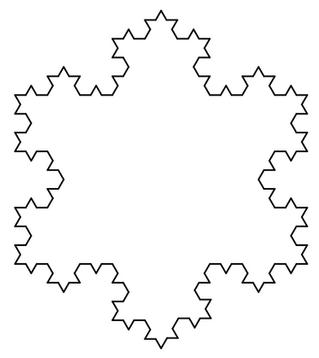 Free Vector Image- Koch Snowflake
