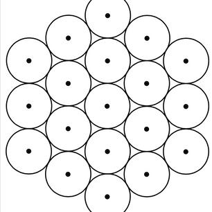 Free Vector Image- CIRCLE PACKING HEXAGON