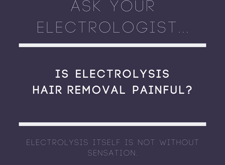 Is electrolysis hair removal painful?