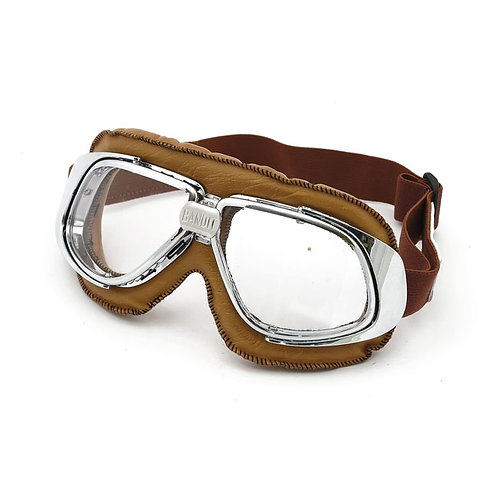GAFAS BANDIT CLASSIC GOGGLES BROWN CLEAR LENS