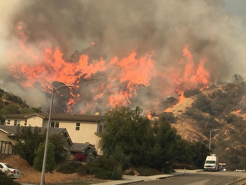 The La Tuna Fire in La Tuna Canyon, Los Angeles, 2017.