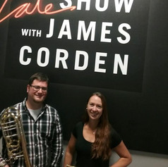 Laura and Nate at Late Late Show