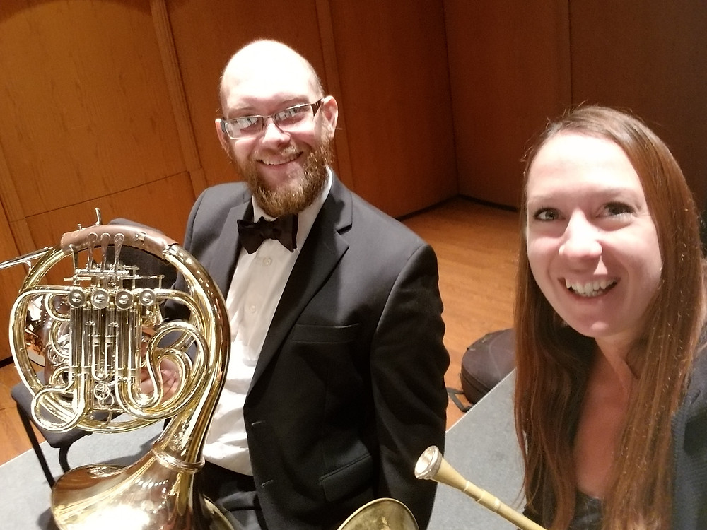 Laura Goodenkauf and Matt Otto, French Horn, Claremont, Los Angeles, CA Orchestra