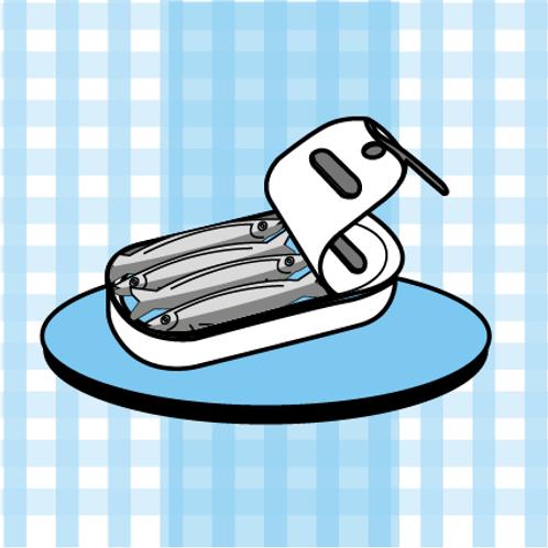 La boite de petites sardines espagnoles