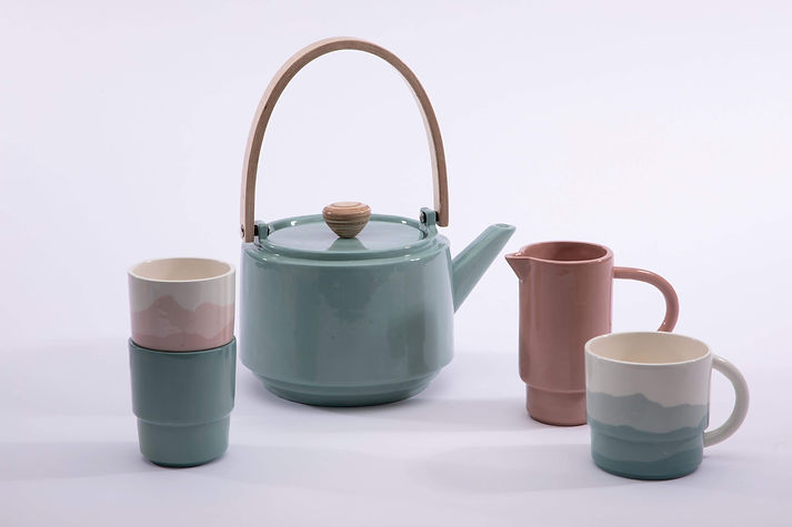 A collection featuring my teapot, jug and pots