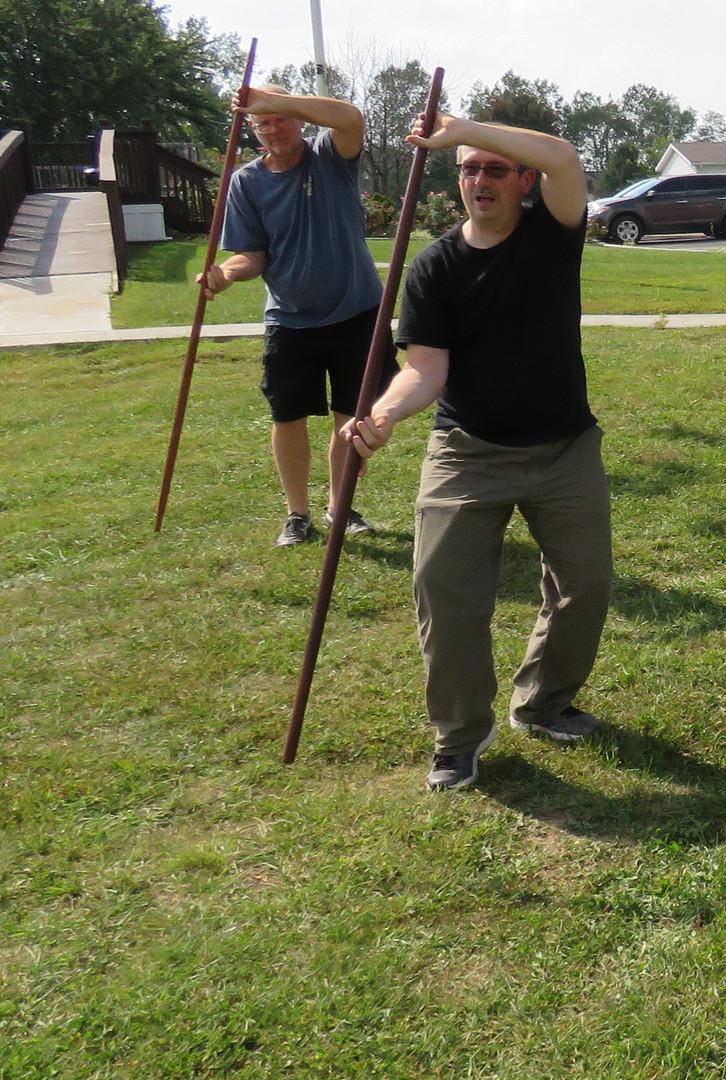Staff Practice Outdoors