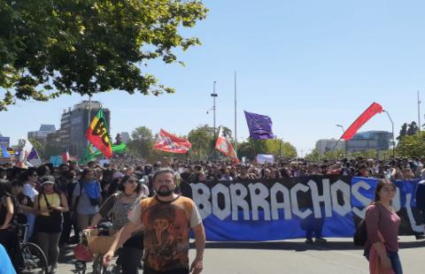 En plein coeur du soulèvement chilien