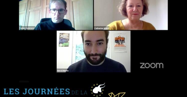 Fabien Cazenave (en haut, à gauche), Catherine André (en haut, à droite), Hervé Moritz (en bas)