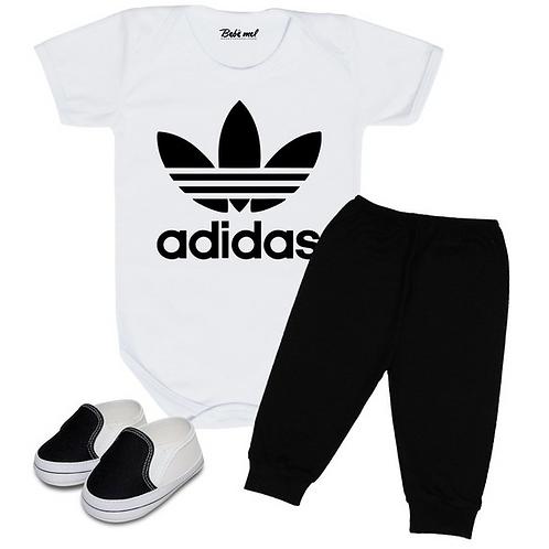 Conjunto bebê Adidas Body calça e tênis Infantil