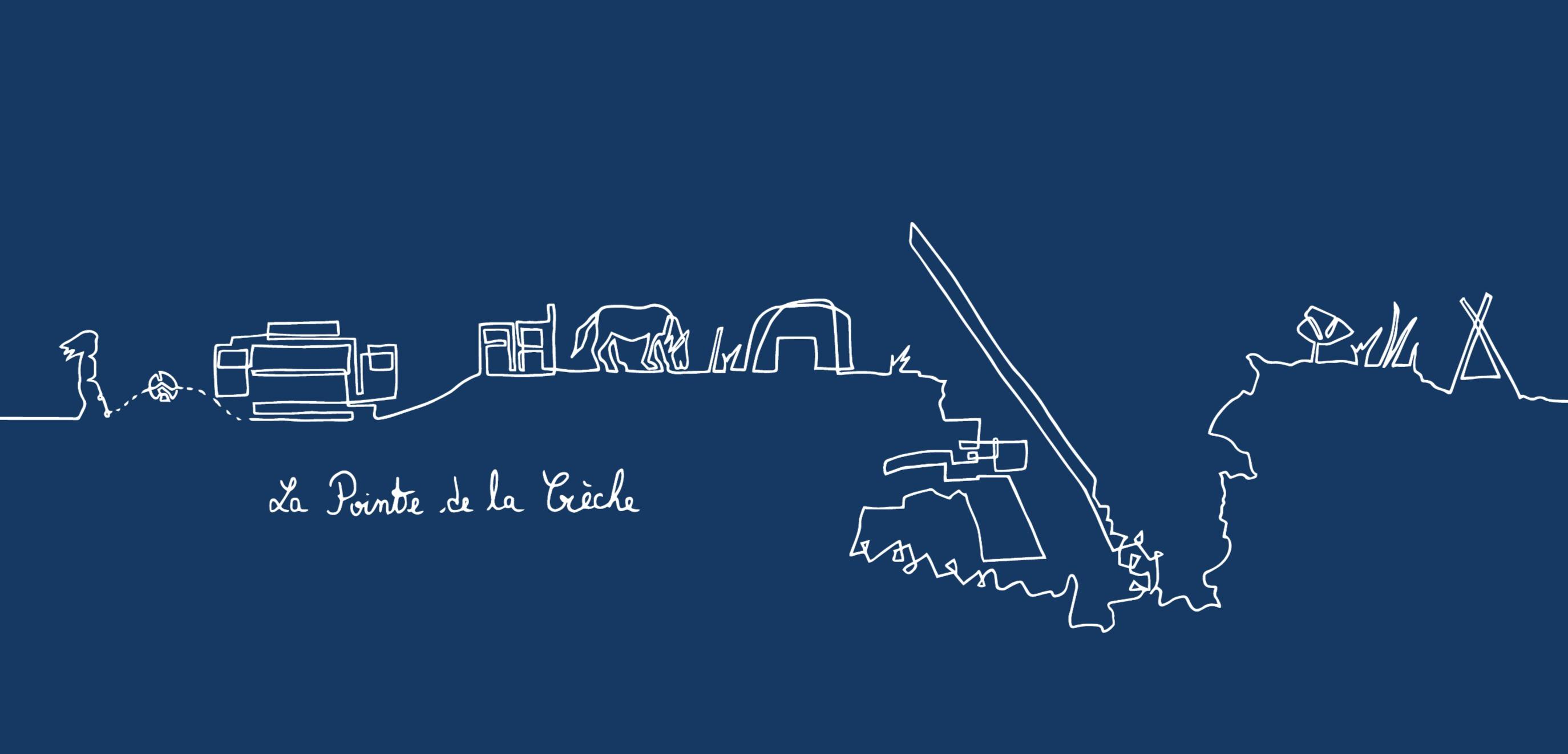 Bleu - La Pointe de la Crèche