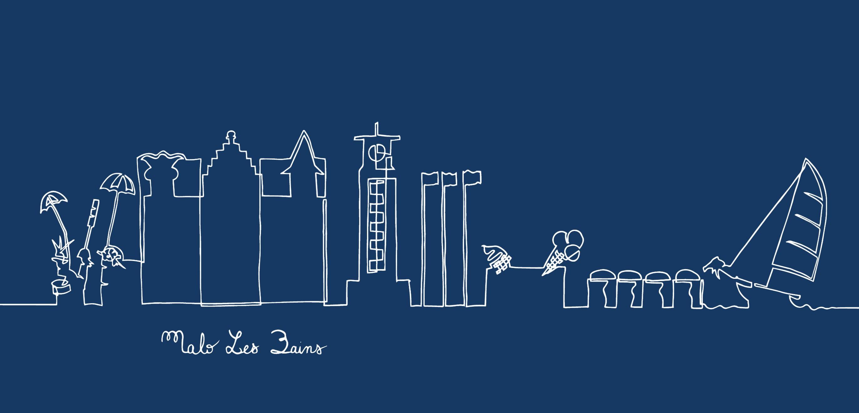 Bleu - Malo Les Bains