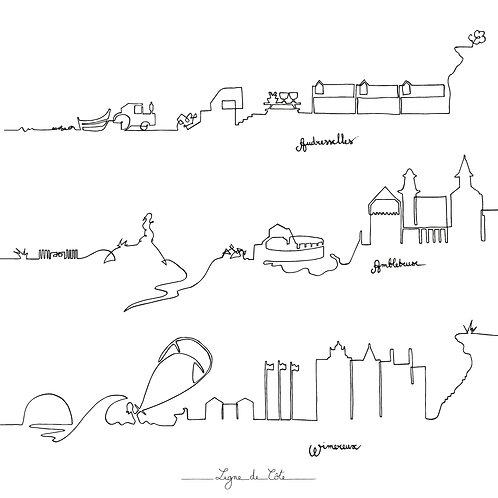 La carte 15 / 15 Audresselles - Ambleteuse - Wimereux